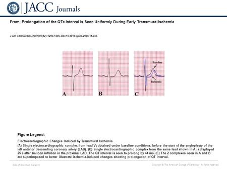 Date of download: 6/2/2016 Copyright © The American College of Cardiology. All rights reserved. From: Prolongation of the QTc Interval Is Seen Uniformly.