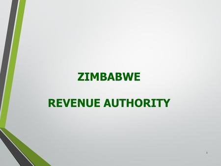 1 ZIMBABWE REVENUE AUTHORITY. 2 TAX COMPLIANCE FOR MEDICAL PRACTITIONERS 16 APRIL 2016 3.