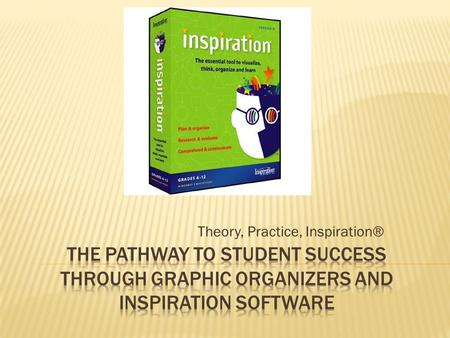 Theory, Practice, Inspiration®. 1. They are grounded in research 2. They help students think visually 3. They have been shown to dramatically increase.