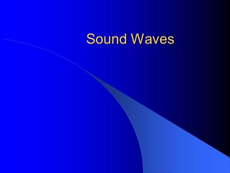 "Sound Waves. Sound is a compressional or longitudinal wave The ""wiggle"" (compression) is in the same direction as the wave travels."