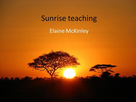 Sunrise teaching Elaine McKinley. 7 year old with unilateral lower motor neurone facial paralysis Problem: