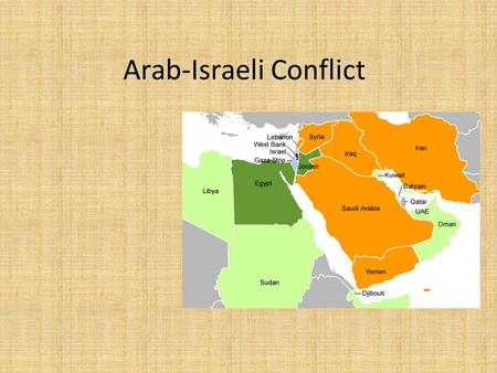 Arab-Israeli Conflict. WHO? Arabs- any member or close relative of any Arabic speaking people (Islam) Palestinians- An Arab living in Palestine (Israel)