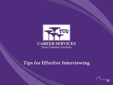Tips for Effective Interviewing. First Impressions It only takes about 15 seconds to make a good first impression. This includes: proper attire, professionalism,