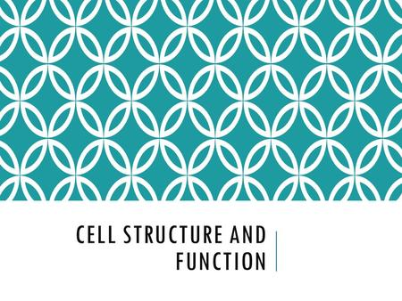 CELL STRUCTURE AND FUNCTION. CELLS Smallest living unit Most are microscopic.
