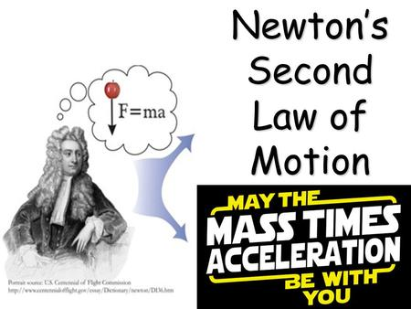 Newton's Second Law of Motion. We are going to talk about forces and acceleration. Football is a great place to start! Embed disabled, put into address.