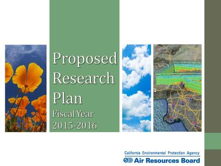 Today's Action Approve Fiscal Year 2015-2016 Research Plan Total $6.5 million 17 research concepts 2.