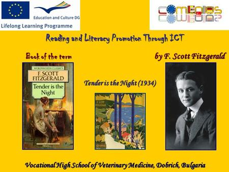 Reading and Literacy Promotion Through ICT Book of the term by F. Scott Fitzgerald Tender is the Night (1934) Vocational High School of Veterinary Medicine,