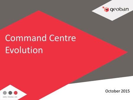 1 October 2015 Command Centre Evolution. 2 Where we started..2010 Individual MI & Planning Teams sat in Ops Inconsistent methodology, tools, skills. Limited.