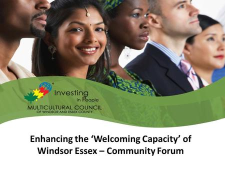 Enhancing the 'Welcoming Capacity' of Windsor Essex – Community Forum.