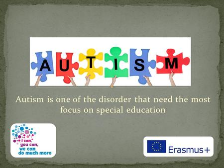 Autism is one of the disorder that need the most focus on special education.