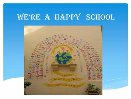 We're a Happy School. 3-11 years 3 – 5 years KINDER 1 KINDER 2 5 – 11 years YEARS 1 - 6 OUR SCHOOL.