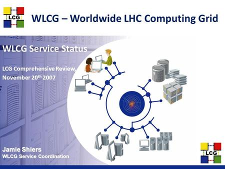 Jamie Shiers WLCG Service Coordination WLCG – Worldwide LHC Computing <strong>Grid</strong> WLCG Service Status LCG Comprehensive Review, November 20 th 2007.