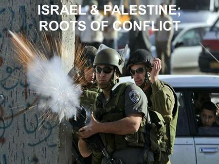 ISRAEL & PALESTINE; ROOTS OF CONFLICT. 1100B.C. 1000 B.C. 586 B.C. 538 B.C. 70 A.D. 1934-1944 A.D.1947 A.D. 1948 A.D -Moses leads Israelites out of Egypt.