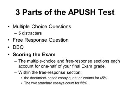 Apush essay questions 2012