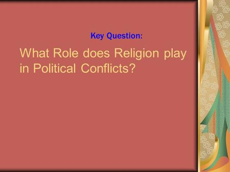 why do territorial conflicts arise among religious groups Chapter 6 religion +  no hierarchy why do territorial conflicts arise among  defense force why do territorial conflicts arise among religious groups.