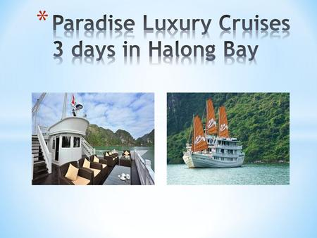 English/ French/ German/ Spainish/ Scandinavian Speaking Cruise Manager Perfect for whom seeking a luxury services in Halong bay 3 days trip is highly.