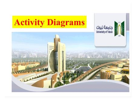 Activity Diagrams. Notation Activity1()cActivity2() 1. Activities 2. Transition.