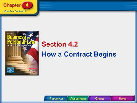 Section 4.2 How a Contract Begins. Section 4.2 How a Contract Begins To be valid, an offer must be: made seriously definite and certain communicated to.