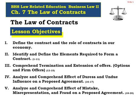 The forms and elements of contracts