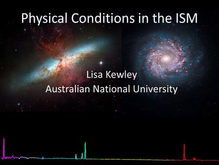 [OII] Lisa Kewley Australian National University.