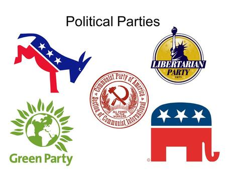 Political Parties. Who needs political parties anyway? When the US first began, there were no political parties. In fact, most people did not want political.