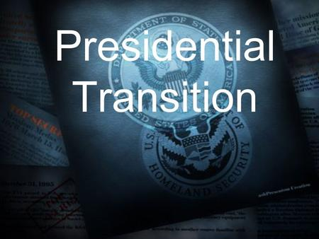 Presidential Transition. I. There are 4 ways by which a president may leave office prematurely A. Death 1. President William Henry Harrison died after.