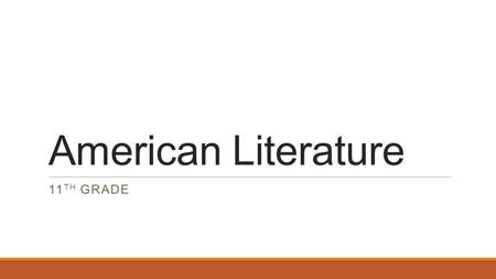 American Literature 11 TH GRADE. Title: Native American Literature 9/2/14Pg 6 Aim: What are the characteristics of Native American Literature? Do Now:
