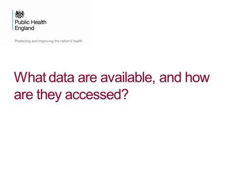 What data are available, and how are they accessed?
