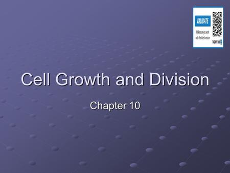 Cell Growth and Division Chapter 10. Why would we need new cells???