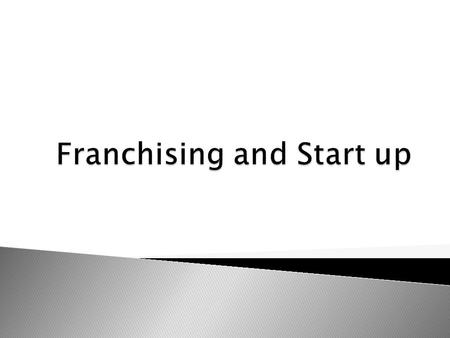  Franchise - Arrangement where one party (the franchiser) grants another party (the franchisee) the right to use its trademark or trade-name.  Franchisee.