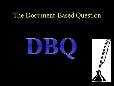 document based question essays Curious about ap tests' document-based questions we explain exactly what writing a dbq essay involves and how you can prepare for the format.