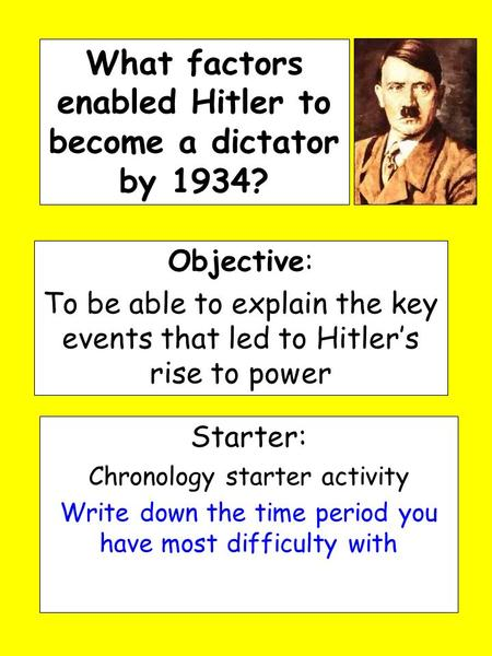 'hitler had established a dictatorship by