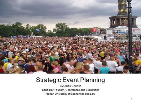 Strategic event planning in the festival