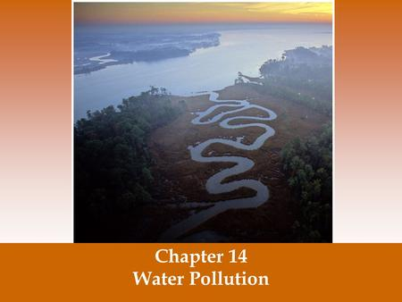 Chapter 14 Water Pollution. Failure will never overtake me if my determination to succeed is strong enough.