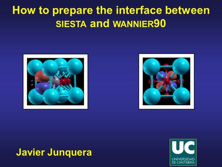 How to prepare the interface between siesta and wannier90