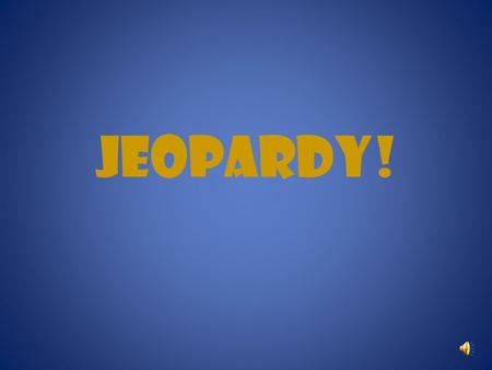 JEOPARDY! Jeopardy Sweat the small stuff Reinvent the wheel Treat others the way they want to be treated Find common ground Lead the way Get involved.