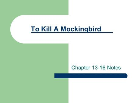 to kill a mockingbird pdf chapter 12
