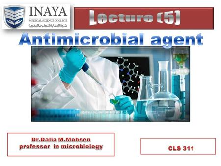 Antimicrobial agents share certain common properties.  We can learn much about how these agents work and why they sometimes do not work by considering.