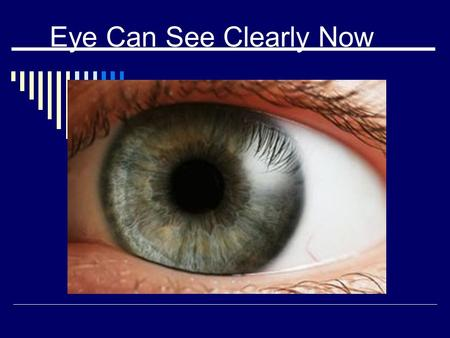 Eye Can See Clearly Now. Basic Anatomy The eye is approximately 2.54 cm wide, 2.54 cm deep and 2.3 cm tall.