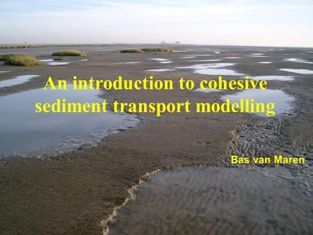 An introduction to cohesive sediment transport modelling