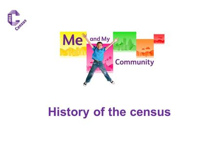 History of the census. How will your lives change......in 10 years time? Work/ school? Leisure? Travel? Housing?Health?