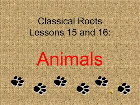 "Classical Roots Lessons 15 and 16: Animals Lesson #15 APIS <L. ""bee"" 1. apiary n. A place where hives or colonies of bees are kept for their honey apiarist,"