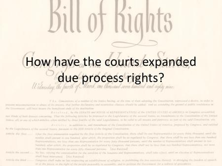 an analysis of due process rights in american legal procedures Some nursing boards have required nurses to adhere to a code of ethics such as the american nurses legal procedures this due process rights were.