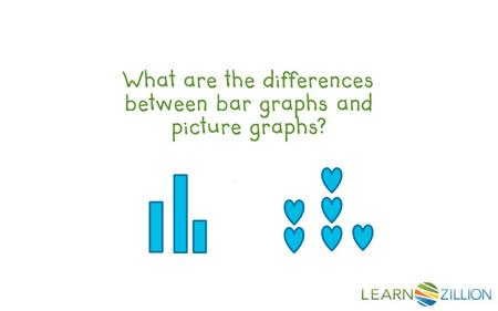What are the differences between bar graphs and picture graphs?