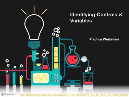 Identifying Controls & Variables Practice Worksheet: