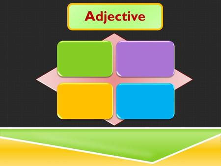 Adjective ContentsAdjective Kinds of Adjectives Formation of Adjectives Comparison of Adjectives Formation of Comparative and Superlative Interchange.