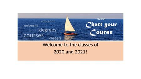 Welcome to the classes of 2020 and 2021! EMSISD Chart your Course education university degrees courses careers.