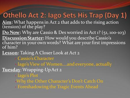 first impressions of iago and othello essay Act one, scene one is both the introduction to othello the play and othello the character the audience's first impressions of the play and the eponymous character are constructed entirely out of the dialogue of roderigo, brabantio, and especially iago in this essay, ong sim wee examines the.