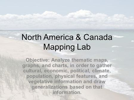 North America & Canada Mapping Lab