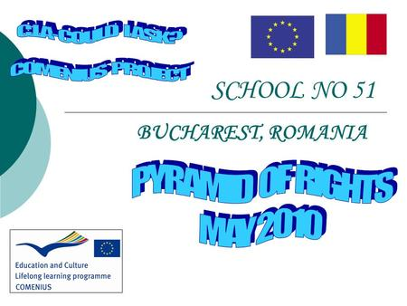 SCHOOL NO 51 BUCHAREST, ROMANIA. STEPS  Students and teachers researched and talked about the most important RIGHTS that children/students have at different.